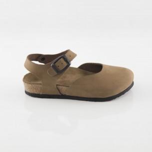 Dodgeball Hakiki Deri Kum Sandalet