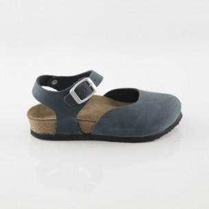 Dodgeball Hakiki Deri Lacivert Sandalet
