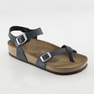 Ephesus Hakiki Deri Lacivert Parmak Arası Sandalet