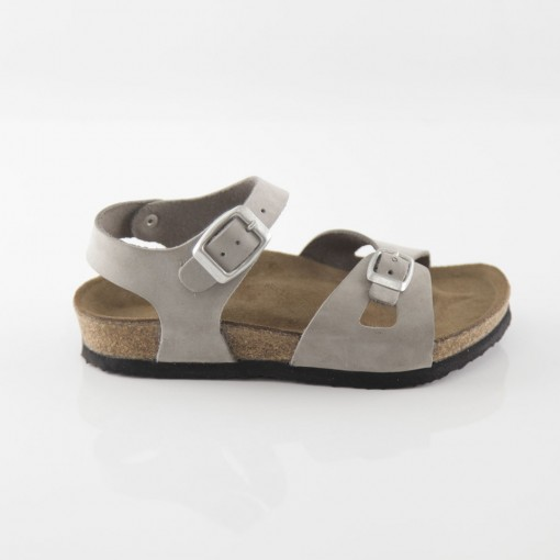 Hopscotch Hakiki Deri Gri Kız Sandalet