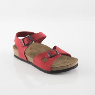 Hopscotch Hakiki Deri Kırmızı Kız Sandalet