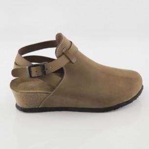 Letoon Hakiki Deri Kum Platform Sandalet