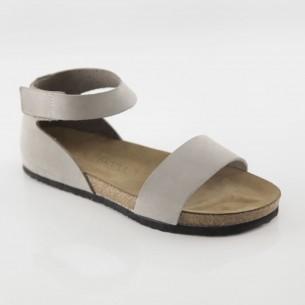 Limyra Hakiki Deri Gri Slim Sandalet