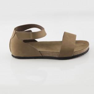Limyra Hakiki Deri Kum Slim Sandalet