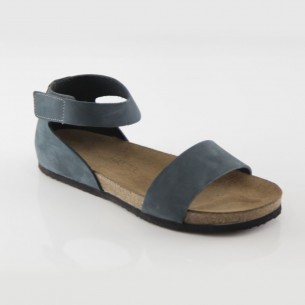 Limyra Hakiki Deri Lacivert Slim Sandalet