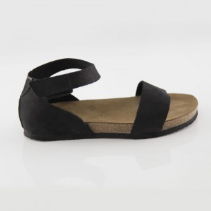 Limyra Hakiki Deri Siyah Slim Sandalet