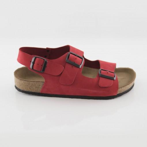 Phaselis Hakiki Deri Kırmızı Sandalet