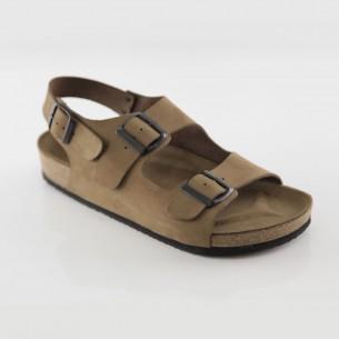 Phaselis Hakiki Deri Kum Sandalet
