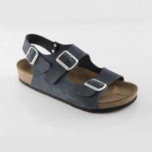 Phaselis Hakiki Deri Lacivert Sandalet